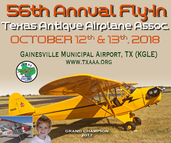 Texas Fly-In Set for Oct. 12-13