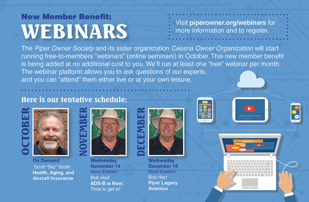 Piper Owner Society Launches Members-Only Webinars