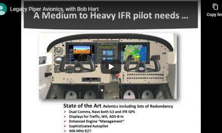 Webinar: Piper Legacy Avionics by Bob Hart