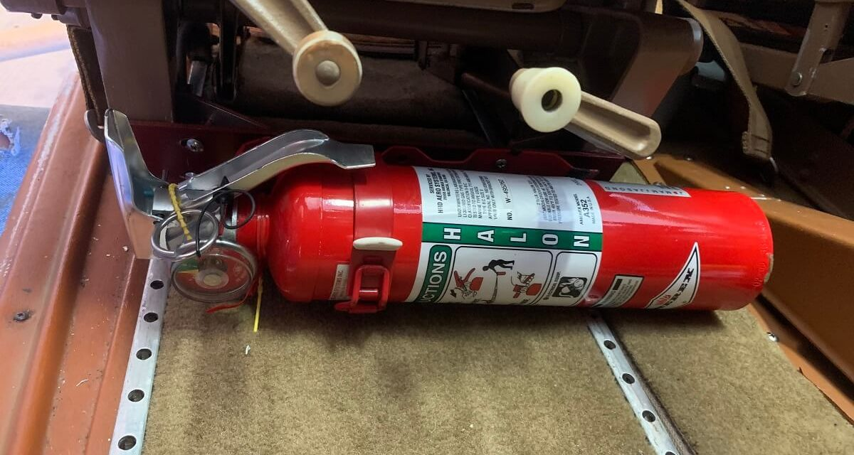 How to Mount a Fire Extinguisher in the Cockpit